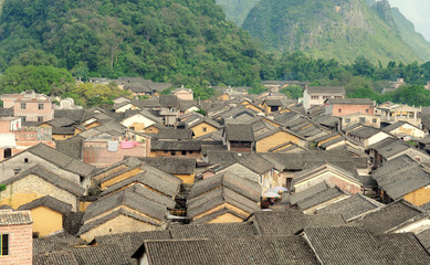 historic interest in china guangxi huangyao .