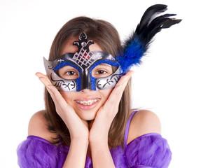 jeune fille au regard masqué
