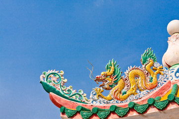 Golden dragon on the roof