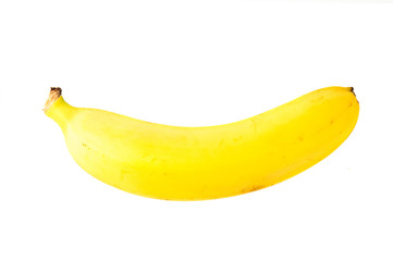 Single fresh banana