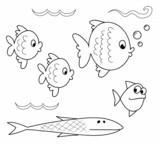 Acquario da colorare pesci alghe e meduse immagini e for Disegni di pesciolini