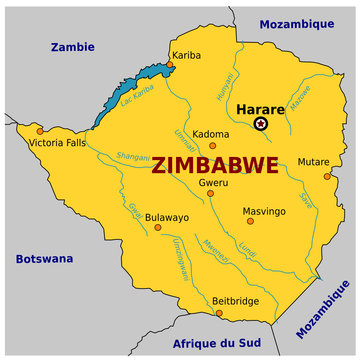 Carte de Zimbabwe
