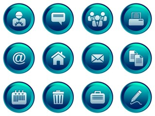 glossy business & finance icon set for web/ software