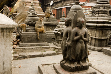 Granite Sculptures at Swayambunath .
