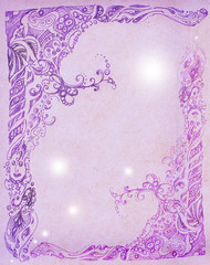 Lilac pattern painted