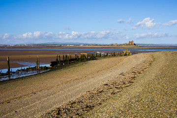 South Walney beach and Piel Island