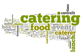 "Word Cloud ""Catering"""