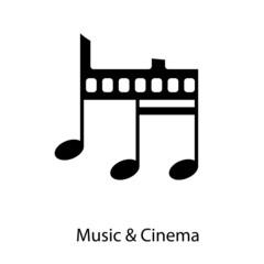 Logo Music and Cinema # Vector