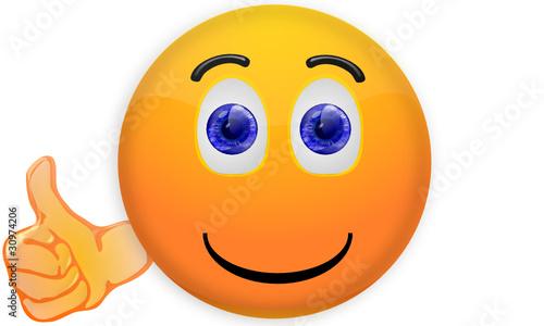Smiley mit Daumen hoch Stockfotos und lizenzfreie Vektoren auf