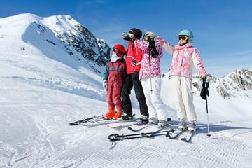 famille ski hiver