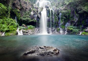 Türaufkleber Wasserfalle Cascades du bassin des Aigrettes - Ile de La Réunion
