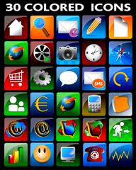 icone web, glossy, applicazioni