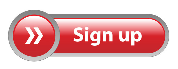 SIGN UP Web Button (subscribe register new user account join now