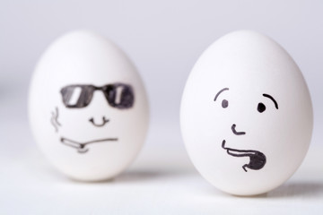 Two funny eggs