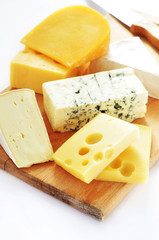 Assortment of cheese on a platter