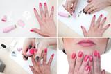 как сделать красивый маникюр в домашних условиях на коротких ногтях фото