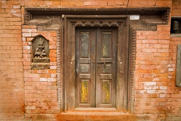 Door at temple at Patan Durbar Square, Nepal.