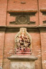 Hindu deity at Patan durbar square, Nepal 2.