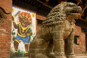 Statue of mythical lion 2.