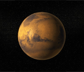 A view of planet Mars