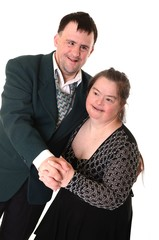 down syndrome couple dancer