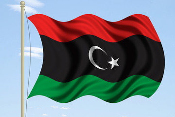 new libya flag 3d