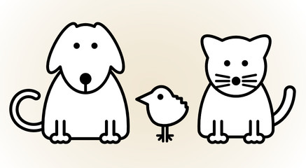 Pets, vector illustration
