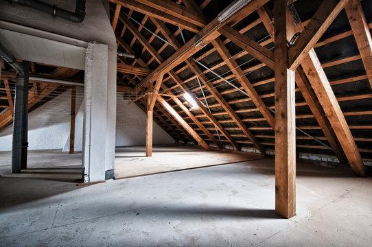 Empty house attic