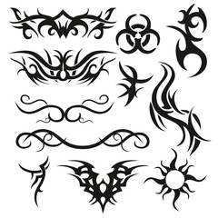 Tattoo tribal vector Arabesque abstract background