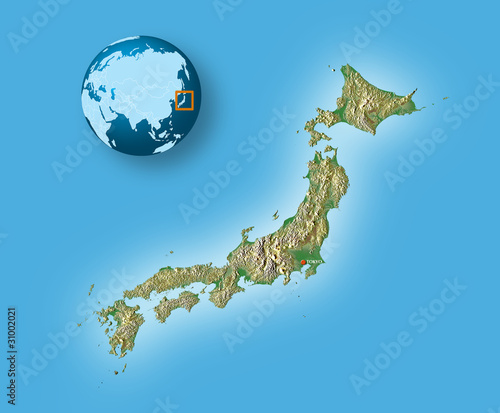 Japan Topographic Map Stock Photo And Royaltyfree Images On - Japan map 3d