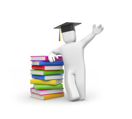 Graduate with book