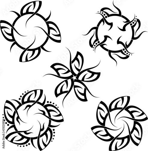 a04f8d7b0 Tribal Tattoo Set Star Sun