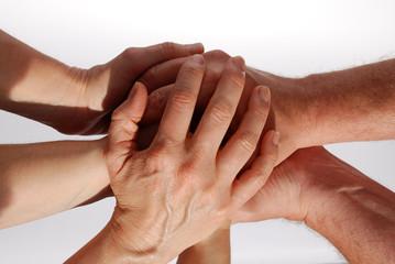 """Hände symbolisieren """"Gemeinsam sind wir stark"""""""