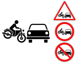 Accident pictogram warning and prohibition signs