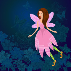 Keuken foto achterwand Magische wereld Fairy Firefly