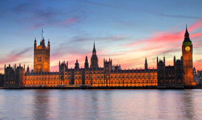 Houses of Parliament bei Sonnenuntergang - HDR version