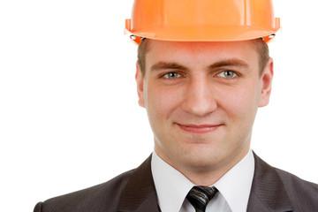 Fotobehang - Smiling engineer in hardhat