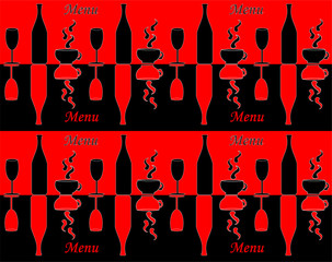 Template of menu for restaurant or coffee shop vector