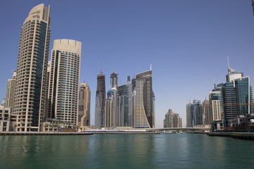 Town scape at summer. Panoramic scene, Dubai.