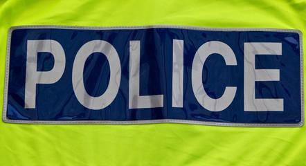 Police badge close up