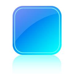 Blue glassy button