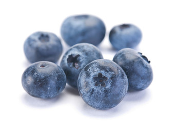 Blueberry berry closeup