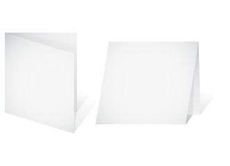 Empty banner - a paper blank leaf