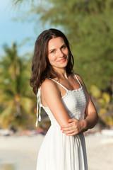 Frau am Strand - Mauritius - Woman at the beach