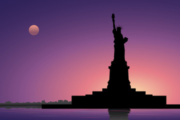 Statue of Liberty in the evening#1