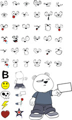 polar bear kid cartoon set1