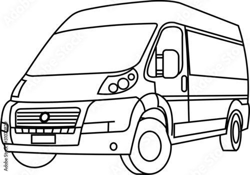 u0026quot fiat ducato in vector lines u0026quot  stock image and royalty