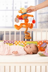 Cute infant playing