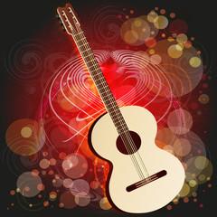 akustische gitarre - abstrakter hintergrund