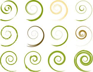 Floral Spiralen Pflanzen